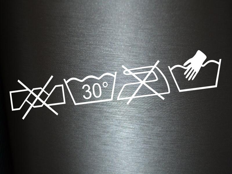 1 x 2 plott aufkleber knitterfrei waschen 30 grad w sche sticker b geleisen fun ebay. Black Bedroom Furniture Sets. Home Design Ideas
