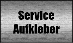 Service Aufkleber