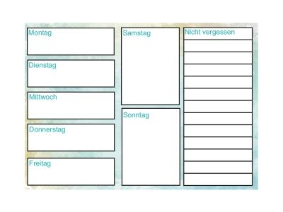3 x Aufkleber wochenplan plan #3 Whiteboard Schreibaufkleber