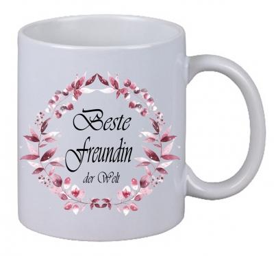 Kaffee Tasse Beste Freundin der Welt Christmas Weihnachten Geburtstag Geschenk