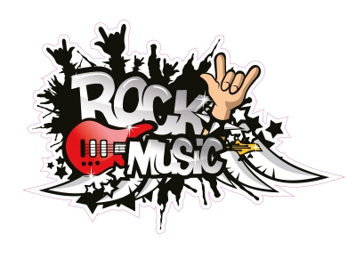 1 x Aufkleber Rock Music Party Logo Sticker Tuning DJ Club Shocker Decal Static