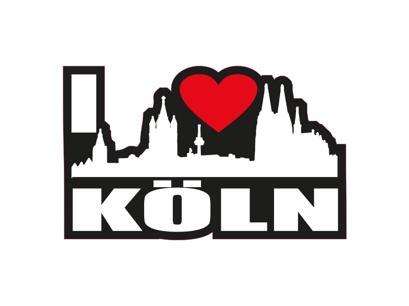 1 X Aufkleber I Love Köln Skyline Sticker Autoaufkleber Tuning Stickerbomb Fun