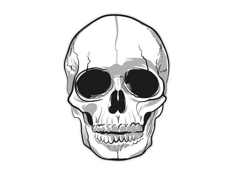 1 X Aufkleber Skull 006 Totenkopf Schädel Sensenmann Death Bones Sticker Tuning