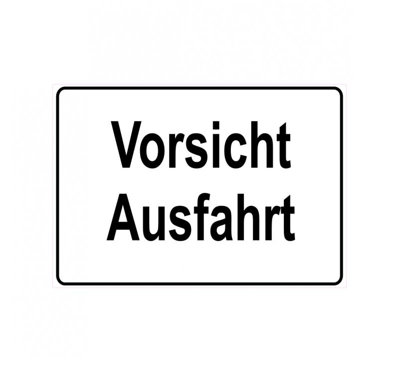 Schild Hinweisschild Vorsicht Ausfahrt Autobahn Auto Landstrasse