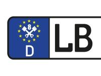 1 x 2 Plott Aufkleber Kennzeichen Nummernschild 22 mm EURO 8 Kolben Tuning Fun