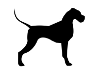 1 x 2 Plott Aufkleber Hund Perfect Dog Silhouette Stickers Fun Gag Tuning Decal