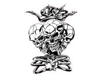 1 x Aufkleber Skull 038 Totenkopf Schädel Sensenmann Death Bones Sticker Tuning