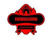 1 x Aufkleber Winter Snowboarding Competition Schnee Board Sticker Tuning Fun