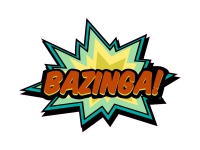1 x Aufkleber Bazinga! Boom Bang Wham Pufff Grrr Sticker Tuning Comic Decal Fun