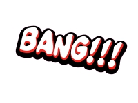 1 x Aufkleber Bang!!! Bang Boom Pang Spruch Comic Sticker Tuning Decal Fun Gag