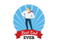 1 x Aufkleber Best Dad Ever Vater Papa Vatertag Geburtstag Sticker Fathersday