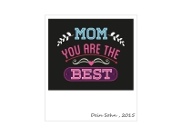 1 x Aufkleber Mom You Are The Best Mutter Mother Love Life Mom Mum Fun Decal FBI