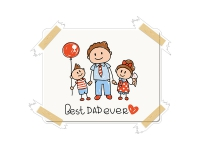 1 x Aufkleber Best Dad Ever Family Sticker Love Fun Gag Decal Splash Mom Ilest