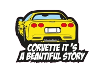 1 x Aufkleber Corvette It´s A Beautiful Story Tuning Style Fun Gag Decal Sticker