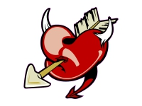 1 x Aufkleber Herz Heart Liebe Love Sticker Fun Gag Decal Ka-bomm Ill Classic