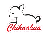 1 x Aufkleber Chihuahua Sticker Tuning Decal Autoaufkleber Minichi Chii Mini Chi