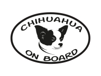 1 x Aufkleber Chihuahua on Board Hund Dog Bord Sticker Tuning Autoaufkleber NEU