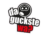 1 x Aufkleber Da guckste wa? Smiley Smile Looking Look Sticker Tuning Turbo Fun