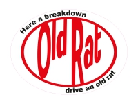 1 x Aufkleber Old Rat VW Ratte Rytstyle Style Ratlook Drive Sticker Tuning Fun