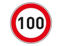 1 x Aufkleber Zulässige Höchstgeschwindigkeit 100 km/h LIMIT Tempo Autobahn NEU