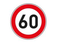 1 x Aufkleber Zulässige Höchstgeschwindigkeit 60 km/h LIMIT Tempo Autobahn NEU