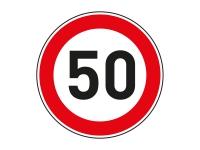 1 x Aufkleber Zulässige Höchstgeschwindigkeit 50 km/h LIMIT Tempo Autobahn NEU