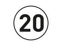 1 x Aufkleber Geschwindigkeit TEMPO 20 km/h Limit Auto Autobahn Sticker Fun Gag