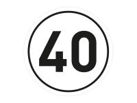 1 x Aufkleber Geschwindigkeit TEMPO 40 km/h Limit Auto Autobahn Sticker Fun Gag