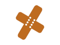 1 x Aufkleber Autopflaster Pflaster unfall Verletzung Spass Fun Gag Sticker OEM