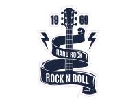 1 x Aufkleber Hard Rock Rock N Roll Music Concert Konzert Musik Party Sticker