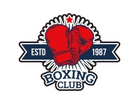 1 x Aufkleber Boxing Sticker Boxing Club Estd 1987 Boxhandschuhe WBC Champion