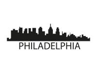 1 x 2 Plott Aufkleber Philadelphia Silouhette Sticker Tuning Autoaufkleber NEU