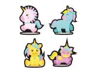 1 x Aufkleber Einhorn Set Süß Kinderaufkleber Unicorn Glitter Glitzer Sticker