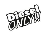 1 x 2 Plott Aufkleber Diesel Only Sticker Tuning Sprit Autoaufkleber Turbo OEM