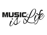 1 x 2 Plott Aufkleber Music Is Life Musik Leben Sticker Bass Autoaufkleber JDM