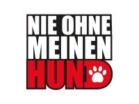 1 x Aufkleber Nie Ohne Meinen Hund Dog Animal Love Sticker Tuning Autoaufkleber