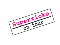 5 x Aufkleber Set Schild Superzicke on tour