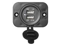 USB Doppel Einbau Steckdosse 12/24V 2100mA Ladegerät  5V für Wohnmobil