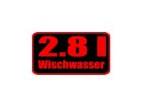 1 x Aufkleber 2.8 l Wischwasser Black/Red Edition Sticker Tuning Autoaufkleber