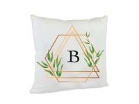 Kissen Bedruckt B Buchstabe Alphabet Dekokissen Geburtstag Weihnachten Geschenk