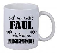 Kaffee Tasse Keine Ich bin nicht Faul Weihnachten Geburtstag Geschenk