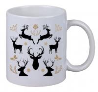 Kaffee Tasse Hirsch motiv Rentier Christmas Weihnachten Geburtstag Geschenk