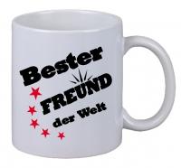 Kaffee Tasse Bester Freund der Welt Sterne Weihnachten Geburtstag Geschenk