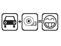 1 x 2 Plott Aufkleber Auto Turbo Smiley Tuning Sticker Autoaufkleber Fun Gag