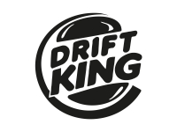 1 x 2 Plott Aufkleber Drift King Burger Sticker Shocker Tuning Autoaufkleber Fun