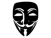 1 x 2 Plott Aufkleber Anonymus V Vendetta Sticker Autoaufkleber Tuning Fun Gag