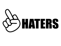 1 x 2 Plott Aufkleber Haters Shocker Sticker Tuning Autoaufkleber Fun Dub Gag