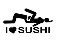 1 x 2 Plott Aufkleber I Love Sushi Sticker Tuning Autoaufkleber Shocker Fun Gag
