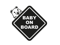 1 x 2 Plott Aufkleber Baby on Board Sticker Kind Autoaufkleber Shocker Fun Gag