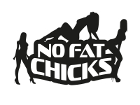 1 x 2 Plott Aufkleber No Fat Chicks Chick Sexy Gogo Dance Sticker Tuning Fun